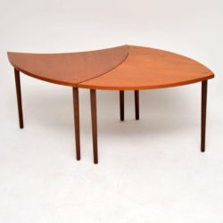 1960's Pair of Danish Teak Side Tables / Coffee Table