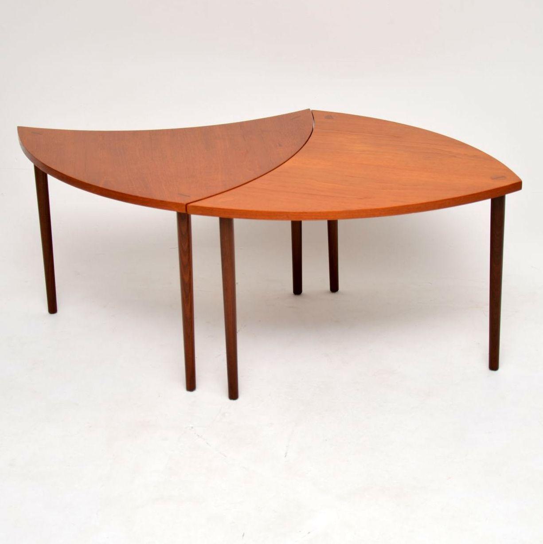 danish teak vintage retro coffee table side tables