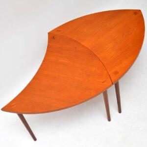 1960's Pair of Danish Teak Side Tables / Coffee Table