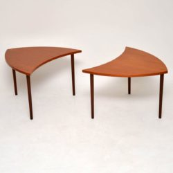 danish teak vintage retro coffee table side tables