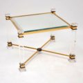 1970's Vintage Pair of Perspex & Glass Side Tables