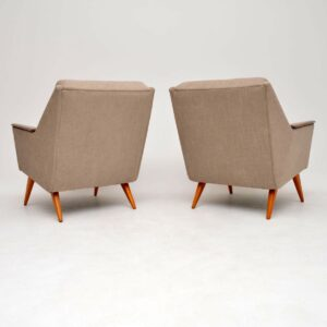 1950's Pair of Vintage Danish Armchairs