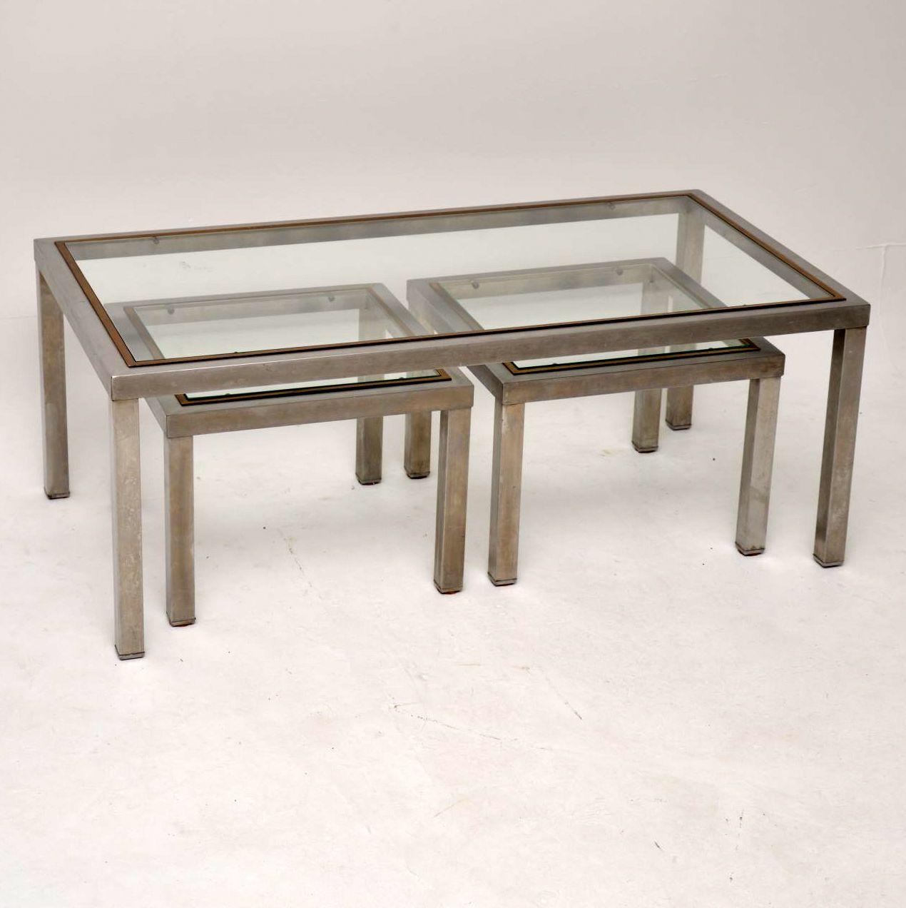 retro_chrome_brass_nestring_coffee_table_1
