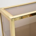 1970's Vintage Italian Brass Display Cabinet / Bookcase by Zevi