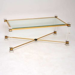 1970's Vintage Perspex & Glass Coffee Table