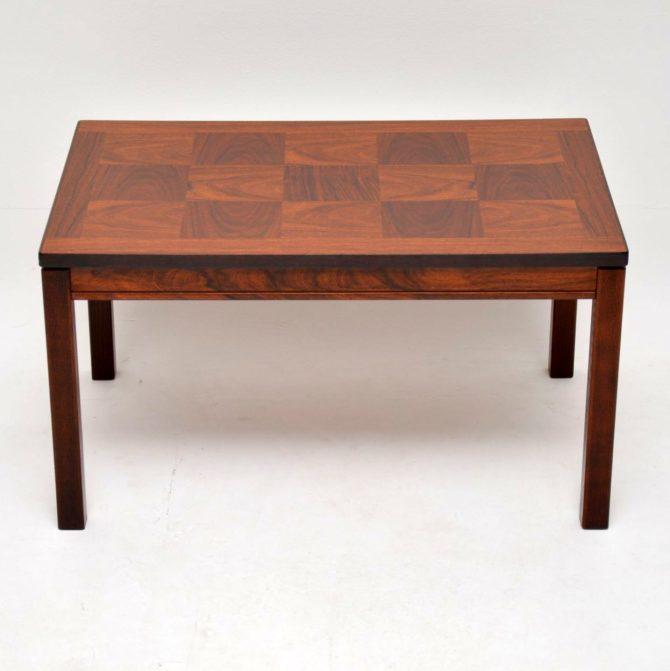 rosewood danish coffee table heggen