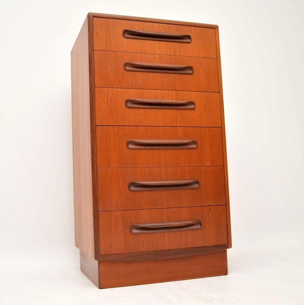 retro vintage teak fresco chest of drawers by g- plan