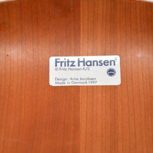 danish vintage dining chairs arne jacobsen fritz hansen series 7