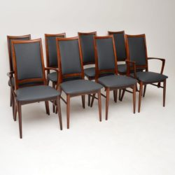 1960's Set of 8 Danish Rosewood Dining Chairs by Niels Koefoed