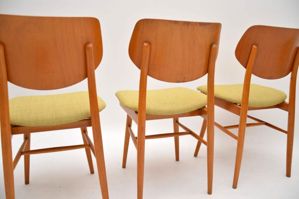 set of four retro vintage dining chairs