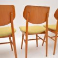 Set of 4 1960's Vintage Dining Chairs by Ton