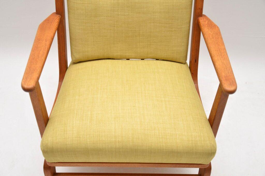 danish vintage retro oak rocking chair armchair