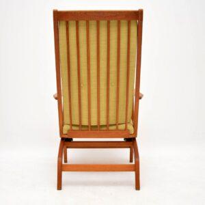 1960's Danish Vintage Oak Rocking Chair