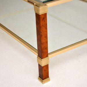 retro vintage walnut brass coffee table pierre vandel paris