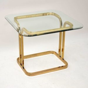 1970's Vintage Brass & Glass Coffee / Side Table