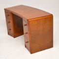 1950's Vintage Walnut Pedestal Desk