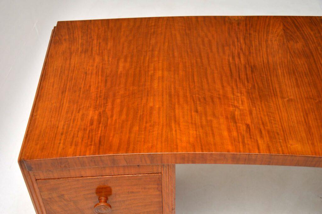 vintage retro art deco walnut desk