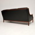 1970's Vintage Danish Leather Sofa
