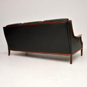 1970's Vintage Danish Leather Sofa