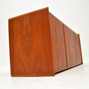 danish teak retro vintage wall mounting sideboard
