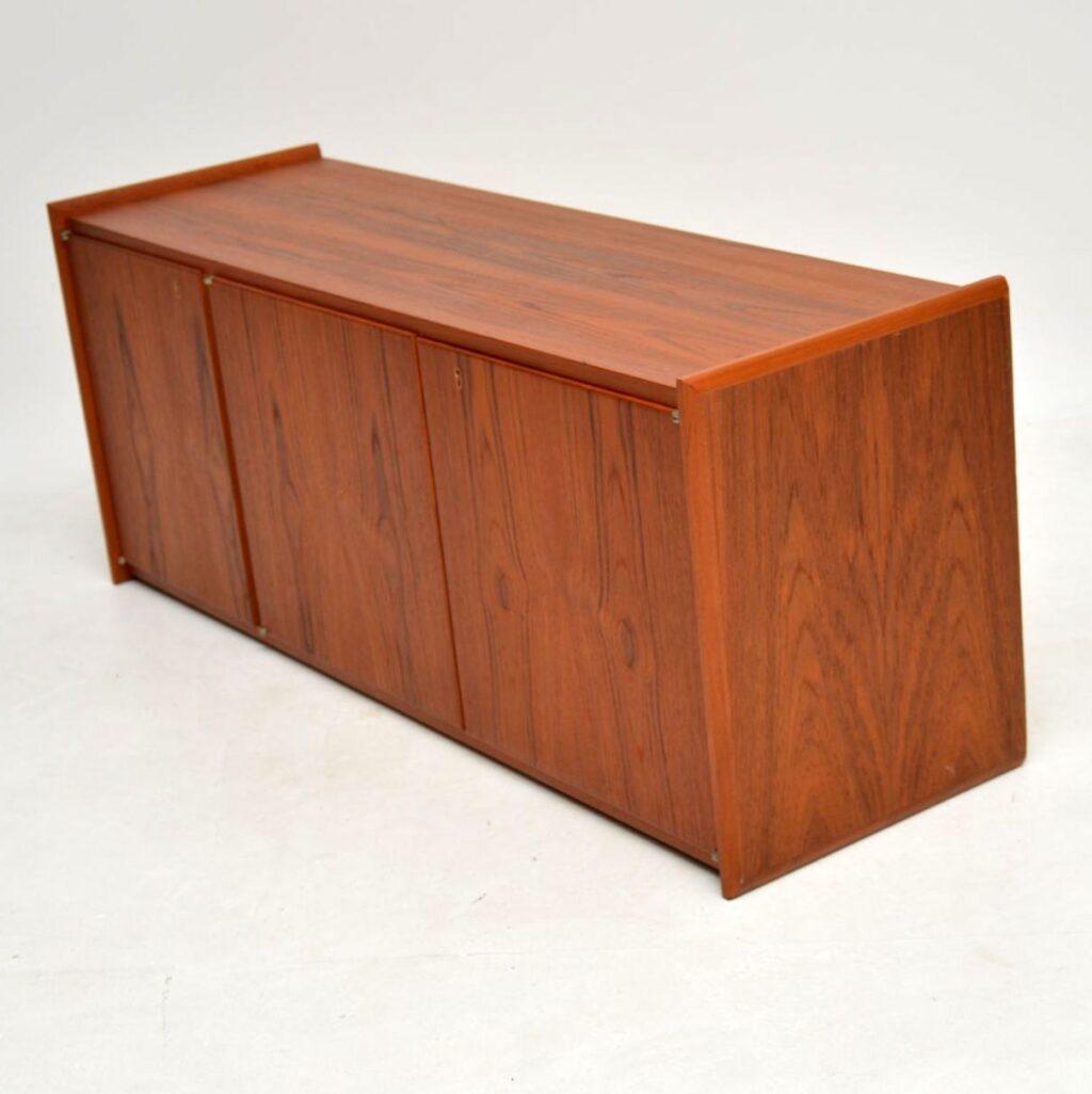 danish teak retro vintage wall mounting sideboard