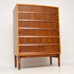 1960's Vintage Danish Walnut Chest of Drawers