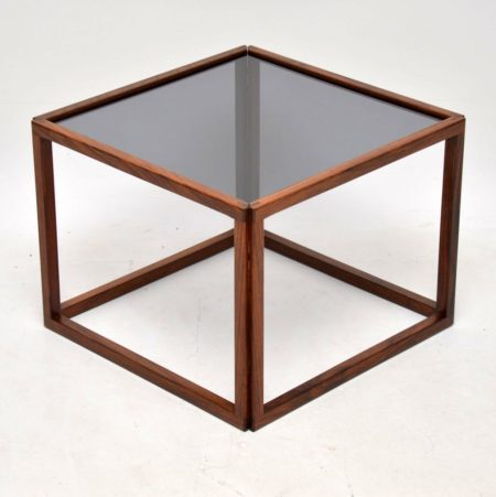 1960's Danish Rosewood Cube Coffee Table by Kai Kristiansen