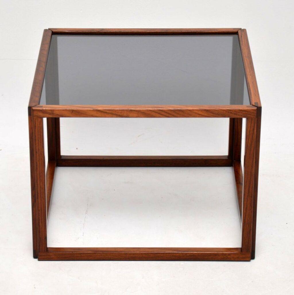 danish rosewood retro vintage cube coffee table kai kristiansen
