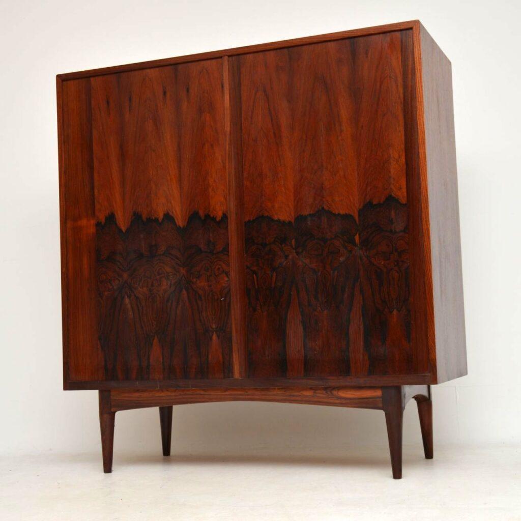 danish rosewood retro vintage sideboard highboard cabinet bernhard pedersen