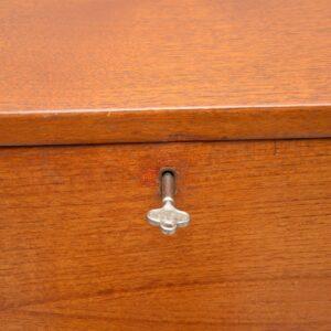 teak retro vintage danish bureau desk