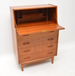 teak retro vintage danish bureau desk