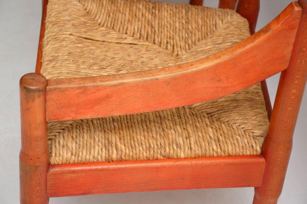 pair of vintage retro italian armchairs vico magistretti cassina habitat