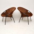Pair of Vintage Suede Balloon Chairs by Lusch & Co Vintage 1960's