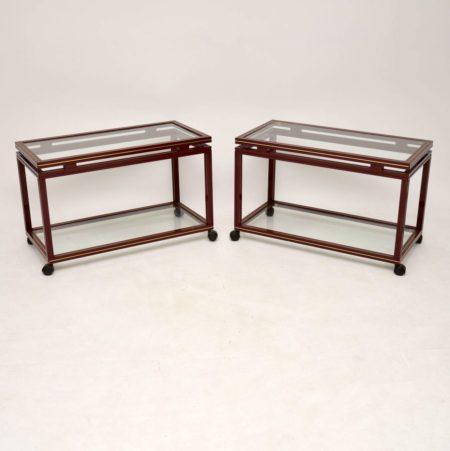 Pair of 1970's Vintage French Side Tables by Pierre Vandel Paris