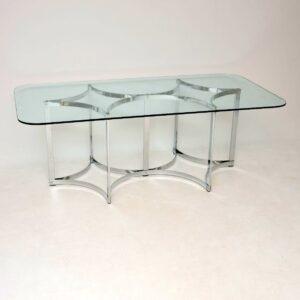 retro vintage chrome dining table merrow associates