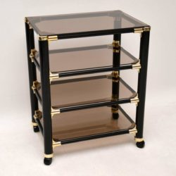 1970's Italian Vintage Side Table / Serving Trolley