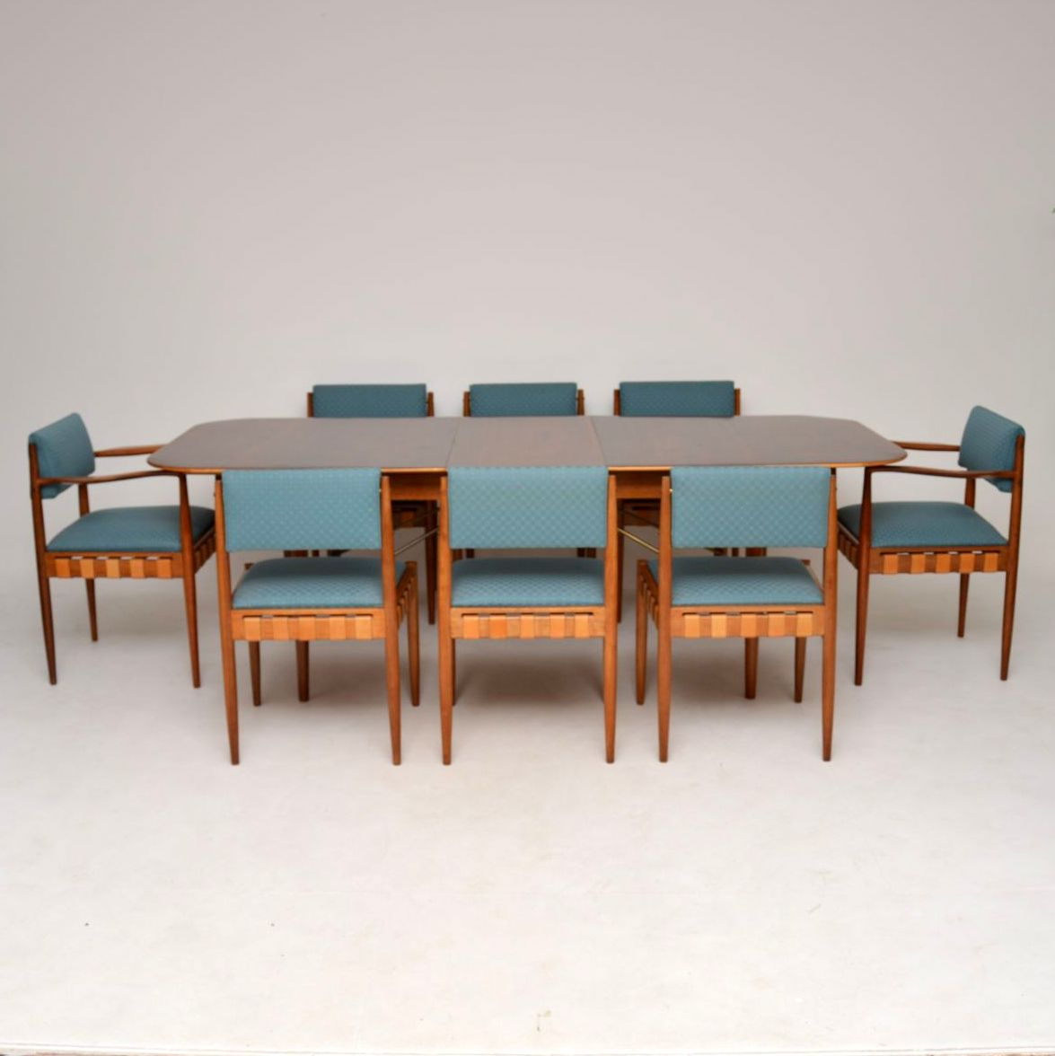 1950s Rosewood Mahogany Dining Table Chairs By Robin Day For
