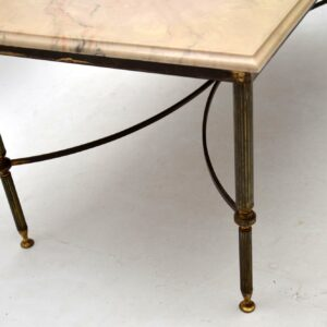 vintage retro antique french brass marble coffee table