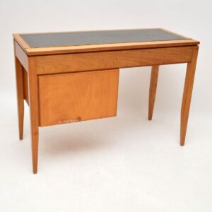1950's Vintage Walnut Desk / Dressing Table by Uniflex
