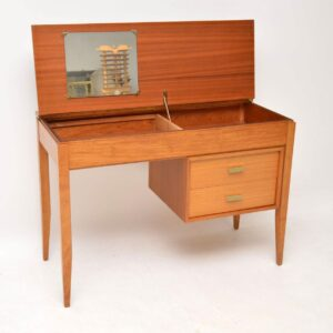 vintage walnut mahogany desk dressing table uniflex