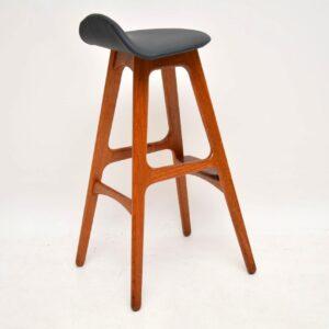 danish teak retro vintage bar stool erik buch