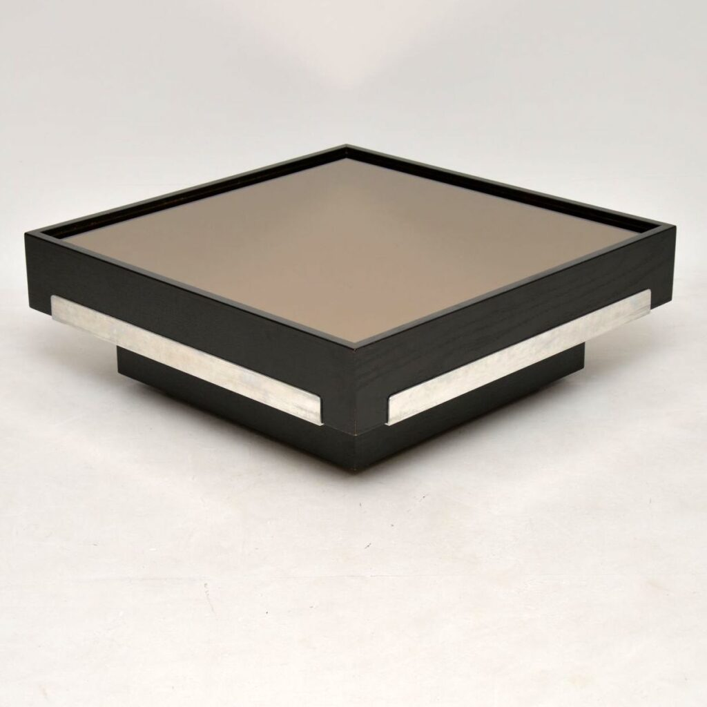 retro vintage 1970's mirrored coffee table