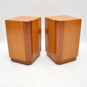 1950's Oak & Walnut Chest of Drawers / Bedside Cabinets by E. Gomme