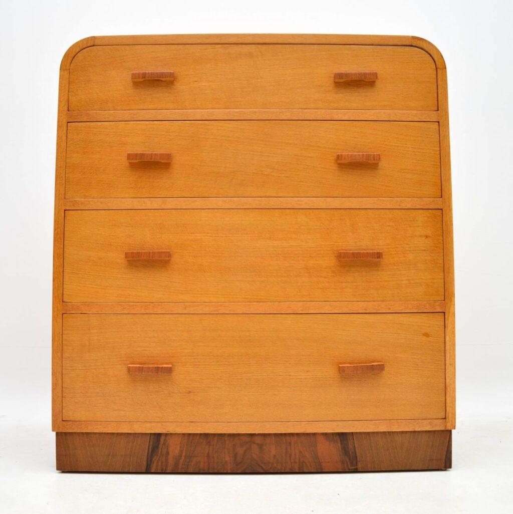 vintage retro oak walnut chest of drawers bedside cabinets gomme