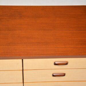 1960's Vintage Sycamore & Walnut Sideboard