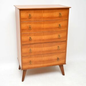 walnut retro vintage chest of drawers alfred cox