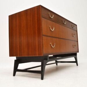 vintage retro mahogany tola rosewood chest of drawers