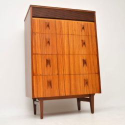 1960's Vintage Walnut , Rosewood & Zebrano Chest of Drawers by EON