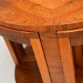 1920's Art Deco Vintage Walnut Nesting Coffee Table