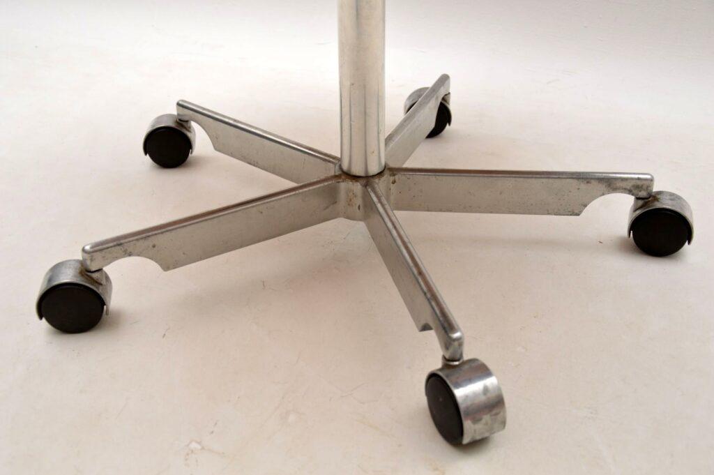 danish leather teak swivel desk chair